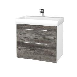 Dřevojas - Koupelnová skříň PROJECT SZZ2 70 - N01 Bílá lesk / Úchytka T02 / D10 Borovice Jackson (323127B)