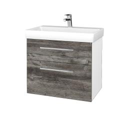 Dřevojas - Koupelnová skříň PROJECT SZZ2 70 - N01 Bílá lesk / Úchytka T04 / D10 Borovice Jackson (323127E)