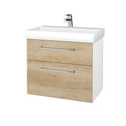 Dřevojas - Koupelnová skříň PROJECT SZZ2 70 - N01 Bílá lesk / Úchytka T04 / D15 Nebraska (323134E)