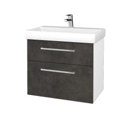 Dřevojas - Koupelnová skříň PROJECT SZZ2 70 - N01 Bílá lesk / Úchytka T04 / D16 Beton tmavý (323141E)