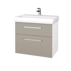 Dřevojas - Koupelnová skříň PROJECT SZZ2 70 - N01 Bílá lesk / Úchytka T01 / M05 Béžová mat (323172A)