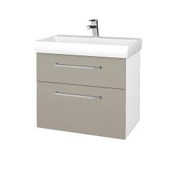 Dřevojas - Koupelnová skříň PROJECT SZZ2 70 - N01 Bílá lesk / Úchytka T04 / M05 Béžová mat (323172E)