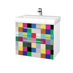 Dřevojas - Koupelnová skříň PROJECT SZZ2 70 - N01 Bílá lesk / Úchytka T04 / IND Individual (323189E)