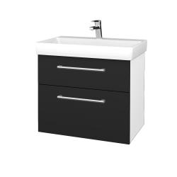 Dřevojas - Koupelnová skříň PROJECT SZZ2 70 - N01 Bílá lesk / Úchytka T03 / L03 Antracit vysoký lesk (323196C)