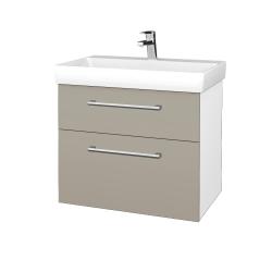 Dřevojas - Koupelnová skříň PROJECT SZZ2 70 - N01 Bílá lesk / Úchytka T03 / L04 Béžová vysoký lesk (323202C)