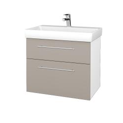 Dřevojas - Koupelnová skříň PROJECT SZZ2 70 - N01 Bílá lesk / Úchytka T02 / N07 Stone (323233B)