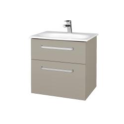 Dřevojas - Koupelnová skříň PROJECT SZZ2 60 - L04 Béžová vysoký lesk / Úchytka T01 / L04 Béžová vysoký lesk (328351A)