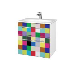 Dřevojas - Koupelnová skříň PROJECT SZZ2 60 - N01 Bílá lesk / Úchytka T02 / IND Individual (328535B)
