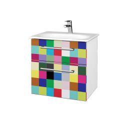 Dřevojas - Koupelnová skříň PROJECT SZZ2 60 - N01 Bílá lesk / Úchytka T03 / IND Individual (328535C)