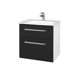 Dřevojas - Koupelnová skříň PROJECT SZZ2 60 - N01 Bílá lesk / Úchytka T04 / L03 Antracit vysoký lesk (328542E)