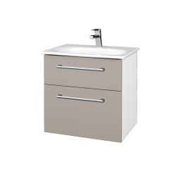 Dřevojas - Koupelnová skříň PROJECT SZZ2 60 - N01 Bílá lesk / Úchytka T03 / N07 Stone (328580C)