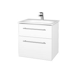 Dřevojas - Koupelnová skříň PROJECT SZZ2 60 - N01 Bílá lesk / Úchytka T02 / L01 Bílá vysoký lesk (328603B)