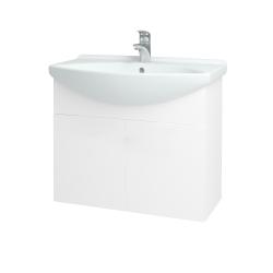 Dřevojas - Koupelnová skříň TAKE IT SZD2 75 - N01 Bílá lesk / Úchytka T05 / N01 Bílá lesk (133597F)