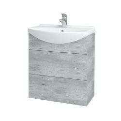 Dřevojas - Koupelnová skříň TAKE IT SZZ2 65 - D01 Beton / Úchytka T05 / D01 Beton (133757F)
