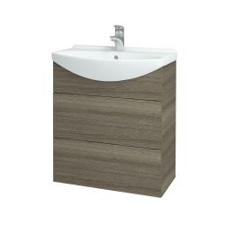 Dřevojas - Koupelnová skříň TAKE IT SZZ2 65 - D03 Cafe / Úchytka T05 / D03 Cafe (133771F)