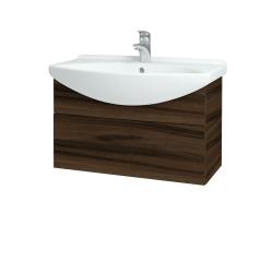 Dřevojas - Koupelnová skříň TAKE IT SZZ 75 - D06 Ořech / Úchytka T05 / D06 Ořech (133870F)