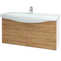 Dřevojas - Koupelnová skříň TAKE IT SZD2 120 - N01 Bílá lesk / Úchytka T05 / D09 Arlington (152352F)