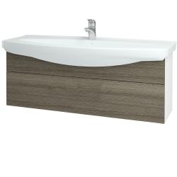 Dřevojas - Koupelnová skříň TAKE IT SZZ 120 - N01 Bílá lesk / Úchytka T05 / D03 Cafe (152758F)