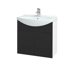 Dřevojas - Koupelnová skříň TAKE IT SZD2 65 - N01 Bílá lesk / Úchytka T05 / N03 Graphite (205928F)