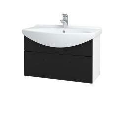 Dřevojas - Koupelnová skříň TAKE IT SZZ 75 - N01 Bílá lesk / Úchytka T05 / N08 Cosmo (206918F)
