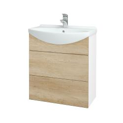 Dřevojas - Koupelnová skříň TAKE IT SZZ2 65 - N01 Bílá lesk / Úchytka T05 / D15 Nebraska (207496F)