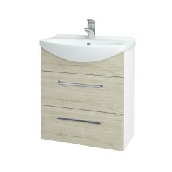Dřevojas - Koupelnová skříň TAKE IT SZZ2 65 - N01 Bílá lesk / Úchytka T04 / D20 Galaxy (279387E)