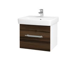 Dřevojas - Koupelnová skříň Q UNO SZZ 55 - N01 Bílá lesk / Úchytka T02 / D20 Galaxy (279660B)