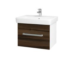 Dřevojas - Koupelnová skříň Q UNO SZZ 60 - N01 Bílá lesk / Úchytka T03 / D21 Tobacco (279714C)