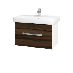 Dřevojas - Koupelnová skříň Q UNO SZZ 70 - N01 Bílá lesk / Úchytka T03 / D20 Galaxy (279745C)