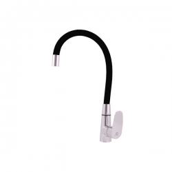 SLEZAK-RAV - Vodovodní baterie dřezová s flexibilním ramínkem AMUR, Barva: chrom/černá, Rozměr: 3/8'' (AM719.0/10C)