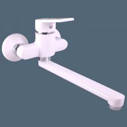 Vodovodní baterie dřezová/umyvadlová COLORADO, Barva: bílá/chrom, Rozměr: 100 mm (CO101.0/23BC) - SLEZAK-RAV