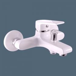 SLEZAK-RAV - Vodovodní baterie vanová COLORADO bílá/chrom, Barva: chrom/bílá, Rozměr: 150 mm (CO154.5BC)