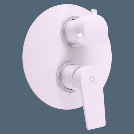 SLEZAK-RAV - Vodovodní baterie sprchová vestavěná COLORADO bílá/chrom, Barva: bílá/chrom (CO186KBC)