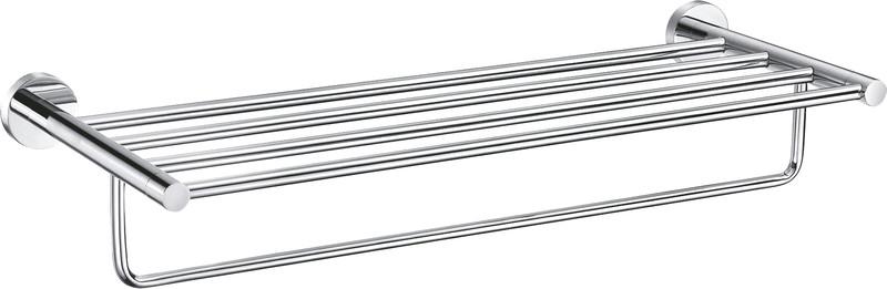 SLEZAK-RAV Polička na ručníky s hrazdou 640,6 mm, Barva: chrom COA0704