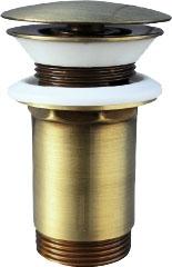 SLEZAK-RAV - Výpusť umyvadlová CLICK-CLACK 5/4 - stará mosaz, Barva: stará mosaz (MD0484SM)