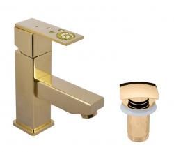 SLEZAK-RAV - Vodovodní baterie umyvadlová , Barva: zlato, Rozměr: 3/8'' (ROYAL1027.0Z)