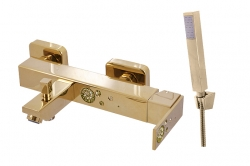 SLEZAK-RAV - Vodovodní baterie vanová, Barva: zlato, Rozměr: 150 mm (ROYAL1054.5/1Z)