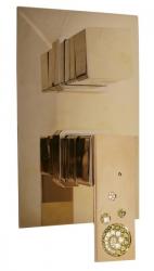 SLEZAK-RAV - Vodovodní baterie sprchová vestavěná s přepínačem, Barva: zlato (ROYAL1186Z)