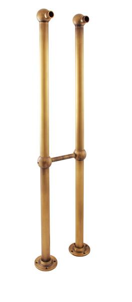 SLEZAK-RAV Nohy k volně stojící baterii, Barva: chrom/zlato, Rozměr: 150 mm SD0100CZ