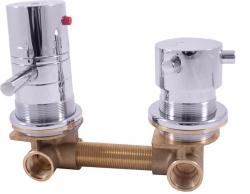 SLEZAK-RAV - Vodovodní baterie do boxů s dvoucestným ventilem TERMOSTATICKÁ, Barva: сhrom (X284T)