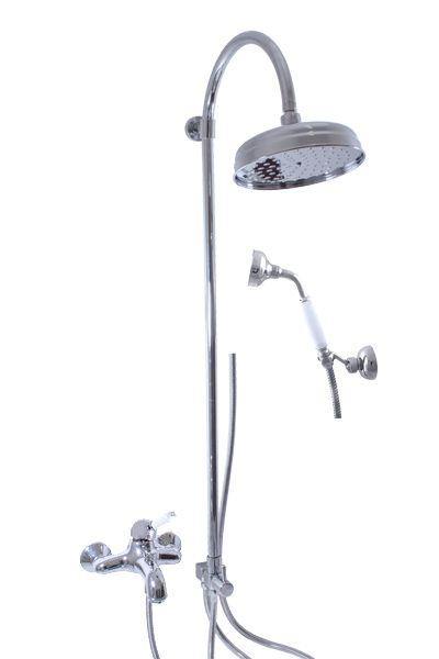 SLEZAK-RAV Vodovodní baterie vanová LABE s hlavovou a ruční sprchou, Barva: chrom, Rozměr: 150 mm L554.5/3