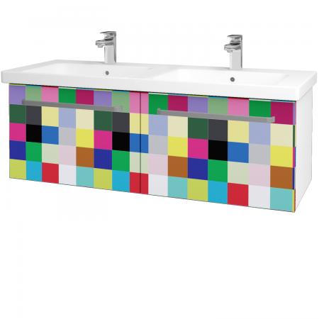 Dřevojas - Koupelnová skříň BIG INN SZZ2 125 - N01 Bílá lesk / Úchytka T01 / IND Individual (24003A)