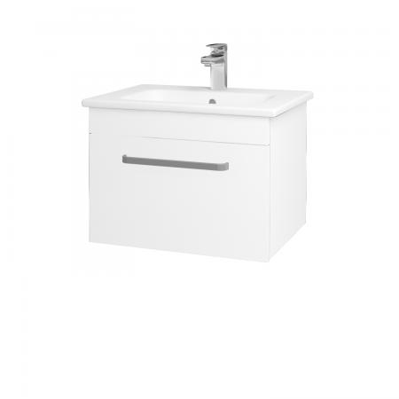 Dřevojas - Koupelnová skříň ASTON SZZ 60 - N01 Bílá lesk / Úchytka T01 / L01 Bílá vysoký lesk (137496A)