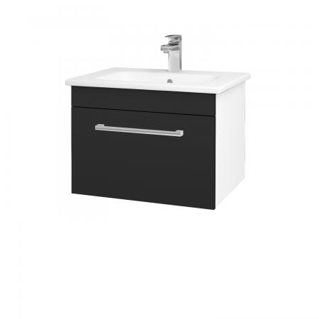 Dřevojas - Koupelnová skříň ASTON SZZ 60 - N01 Bílá lesk / Úchytka T03 / L03 Antracit vysoký lesk (137489C)