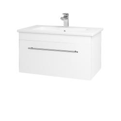 Dřevojas - Koupelnová skříň ASTON SZZ 80 - N01 Bílá lesk / Úchytka T02 / L01 Bílá vysoký lesk (137526B)