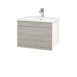 Dřevojas - Koupelnová skříň ASTON SZZ 60 - N01 Bílá lesk / Úchytka T03 / D05 Oregon (130923C)
