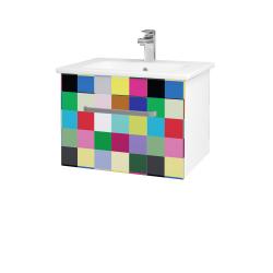 Dřevojas - Koupelnová skříň ASTON SZZ 60 - N01 Bílá lesk / Úchytka T01 / IND Individual (137458A)