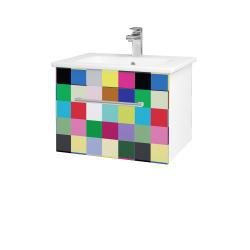Dřevojas - Koupelnová skříň ASTON SZZ 60 - N01 Bílá lesk / Úchytka T03 / IND Individual (137458C)