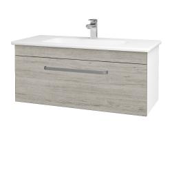 Dřevojas - Koupelnová skříň ASTON SZZ 100 - N01 Bílá lesk / Úchytka T01 / D05 Oregon (131067A)