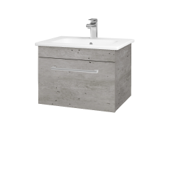 Dřevojas - Koupelnová skříň ASTON SZZ 60 - D01 Beton / Úchytka T03 / D01 Beton (131234C)